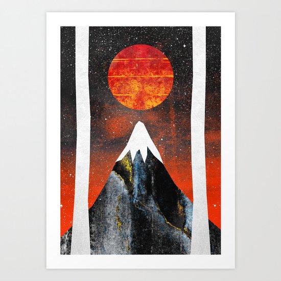 Black Mountain Art Print