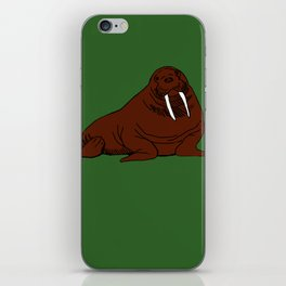 The august walrus iPhone Skin