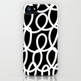 Chalkboard / White on Black iPhone Case