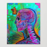 psychology Canvas Prints featuring Reverse Psychology by RandyConnerPaintings