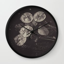 Lily Pads on the Lake Wall Clock