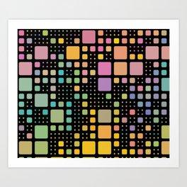 Pop Squares Art Print