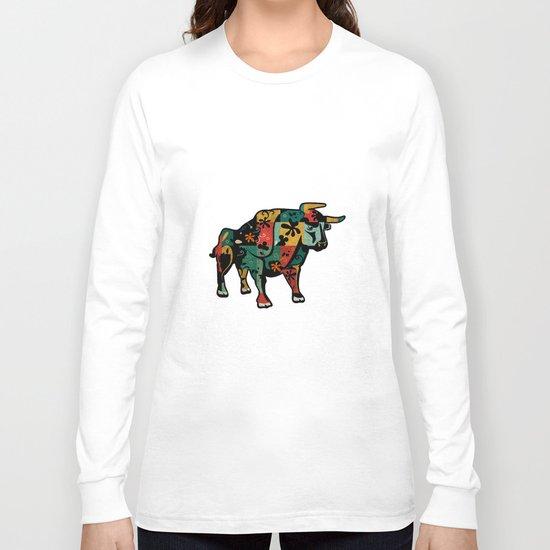 Flower Bull Long Sleeve T-shirt