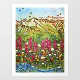 Alyeska Fireweed Art Print