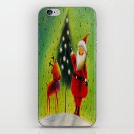 Santa and his Reindeer iPhone Skin