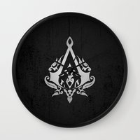 assassins creed Wall Clocks featuring ASSASSINS creed    by Thorin