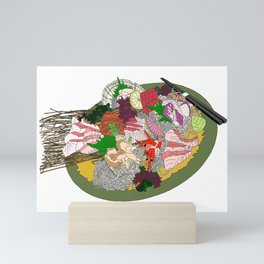Gorgeous Sashimi Set from Mr Sasaki Mini Art Print
