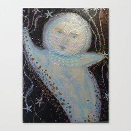 Mr. Moon - Whimsies of Light Children Series Canvas Print