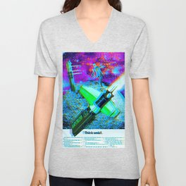 a tale of the moon drifter Unisex V-Neck
