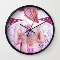chakra Wall Clocks featuring Chakra Path by Webe Love