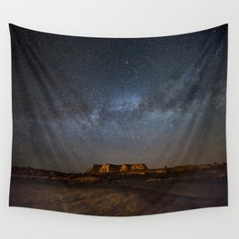 Across the Universe - Milky Way Galaxy Above Mesa in Arizona Wall Tapestry