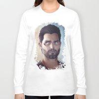 derek hale Long Sleeve T-shirts featuring Teen Wolf - Derek Hale V2 by Caim Thomas