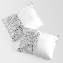 San Francisco California Street Map Pillow Sham