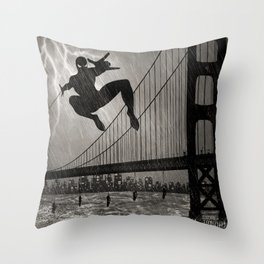 Spider-Man Walk Throw Pillow
