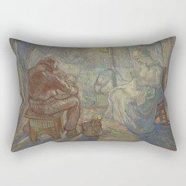 Evening (after Millet) Rectangular Pillow