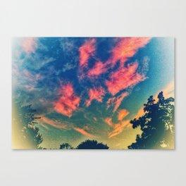 Brustroke Sky Canvas Print