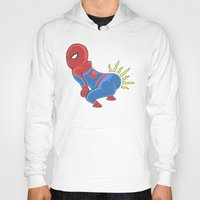 booty Hoodies featuring Spidey Booty by Pengew