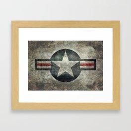 Air force Roundel v2 Framed Art Print