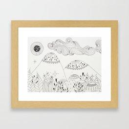Diversity Forest Framed Art Print