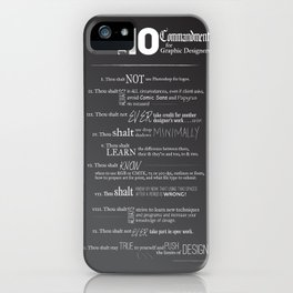 The 10 Commandments for Graphic Designers iPhone Case