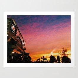 Stadium Sunset Art Print