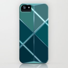 Mosaic tiled glass with black rays iPhone Case