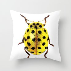Insecte jaune et noir colors fashion Jacob's Paris Throw Pillow