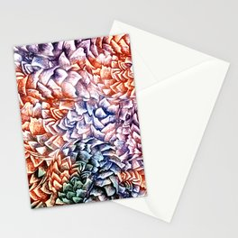 Artichokes and Pangolins Bright Stationery Cards