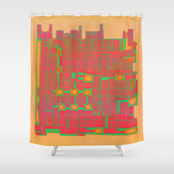 LAY OUT 03 /18-08-16 Shower Curtain