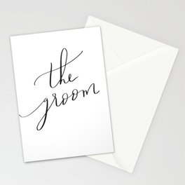 the groom Stationery Cards