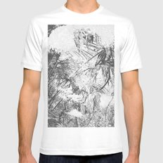 abstract nature MEDIUM White Mens Fitted Tee