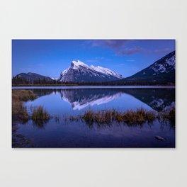 An Evening at Vermillion Lakes Canvas Print