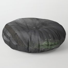 In the forest darkness - Kessock, Highlands, Scotland Floor Pillow