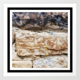 Stone Wall with Nail Art Print