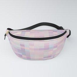 Pink Lavender Blue Gray Pixels Fanny Pack