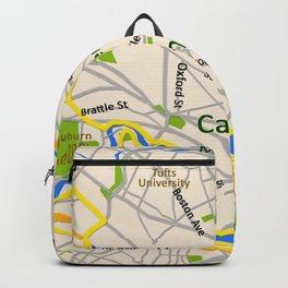 Map of Cambridge, MA, USA Backpack
