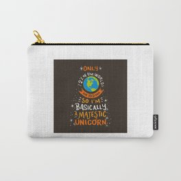 I'm Basically A Majestic Unicorn - Funny Redhead Quotes Gift Carry-All Pouch