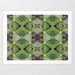 Almond Tree Pattern Art Print