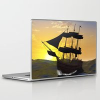 pirate ship Laptop & iPad Skins featuring Pirate ship  by nicky2342