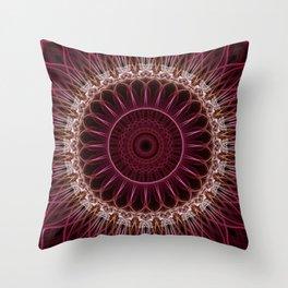 Ruby Mandala Throw Pillow