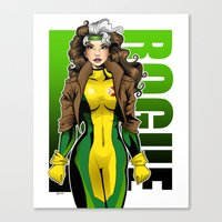 rogue Canvas Prints featuring Rogue by Genevieve Kay