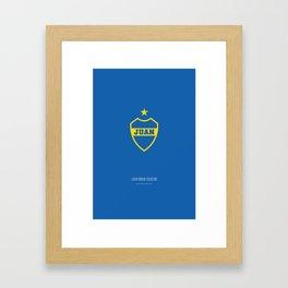 Juan Román Riquelme x Boca Juniors Framed Art Print