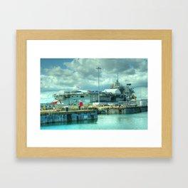 HMS Queen Elizabeth Framed Art Print