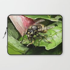 Wasp on flower16 Laptop Sleeve