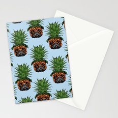 Pineapple Pug Stationery Cards