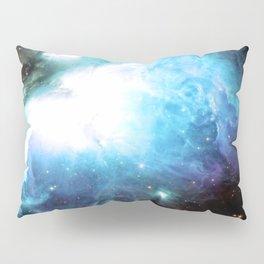 Orion Nebula Aqua Periwinkle Gold Pillow Sham