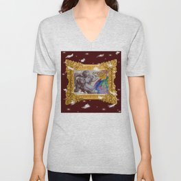 Barocco cocco choco - Variations on the theme of the Baroque Unisex V-Neck