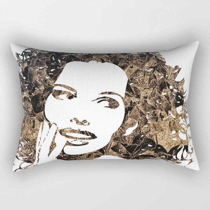 Provocative Face Rectangular Pillow