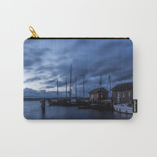 Blue memories- Blue hour at an harbour at the Sea #Society6 Carry-All Pouch