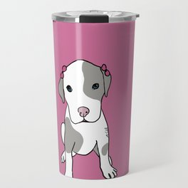 Millie The Pitbull Puppy Travel Mug